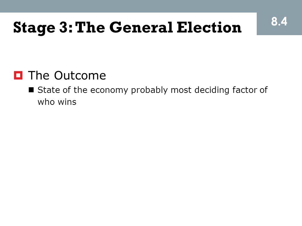 Stage 3: The General Election