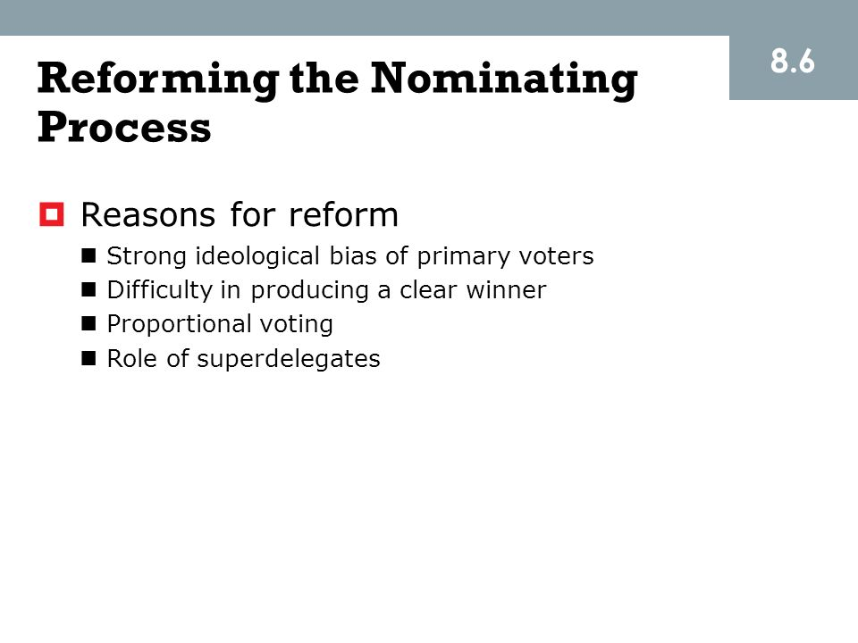 Reforming the Nominating Process