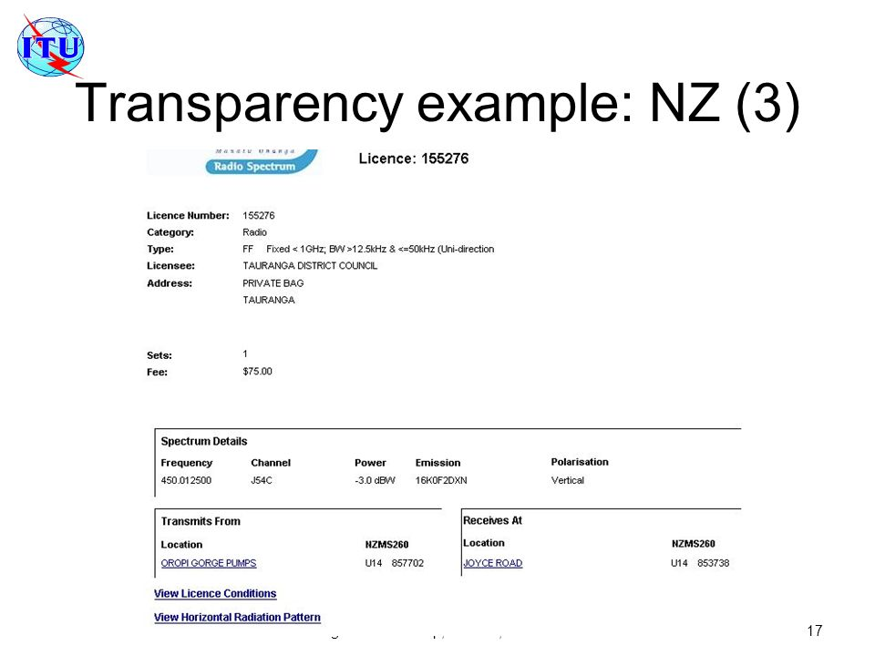 Transparency example: NZ (3)