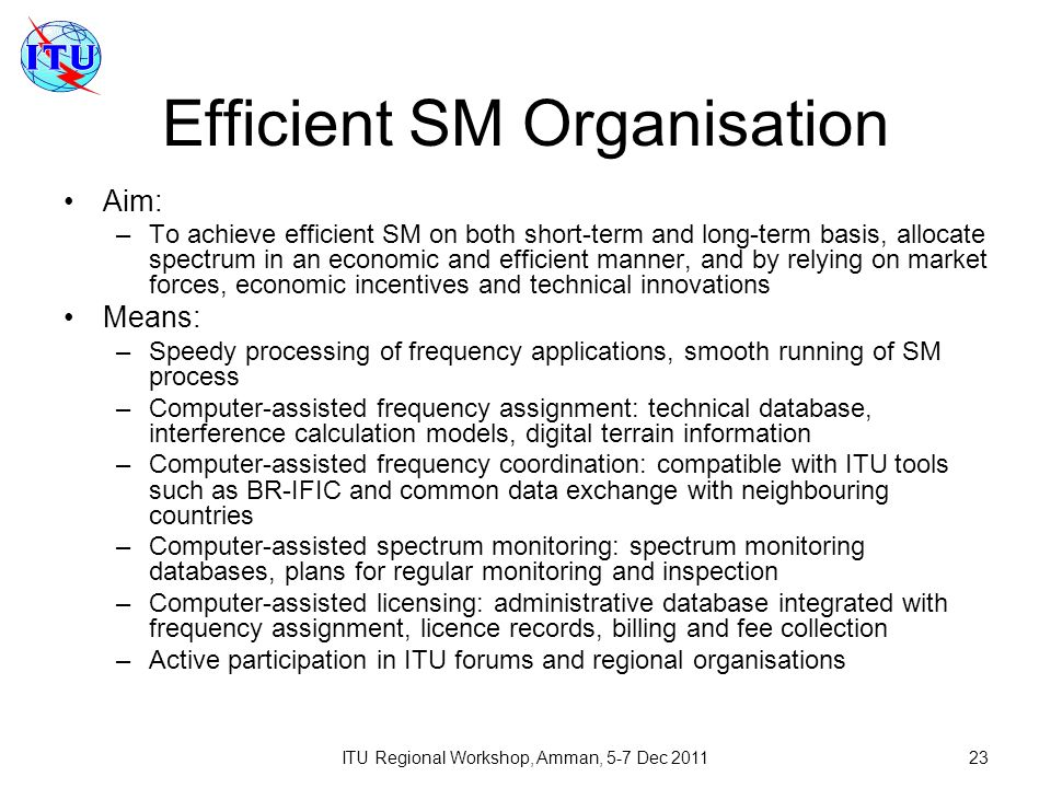Efficient SM Organisation