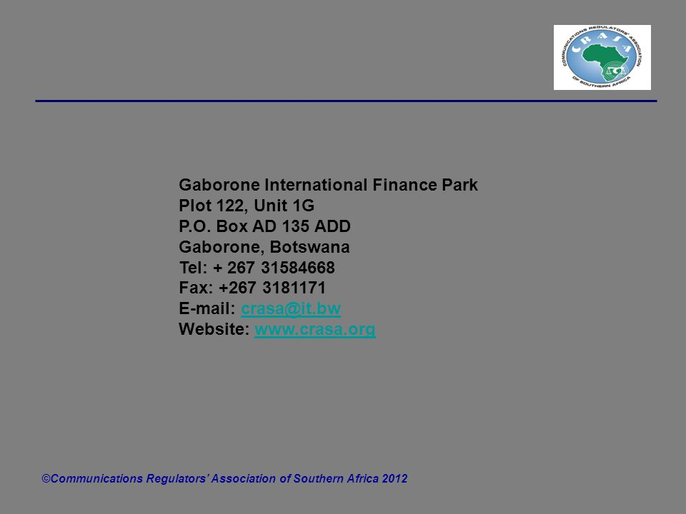 Gaborone International Finance Park Plot 122, Unit 1G