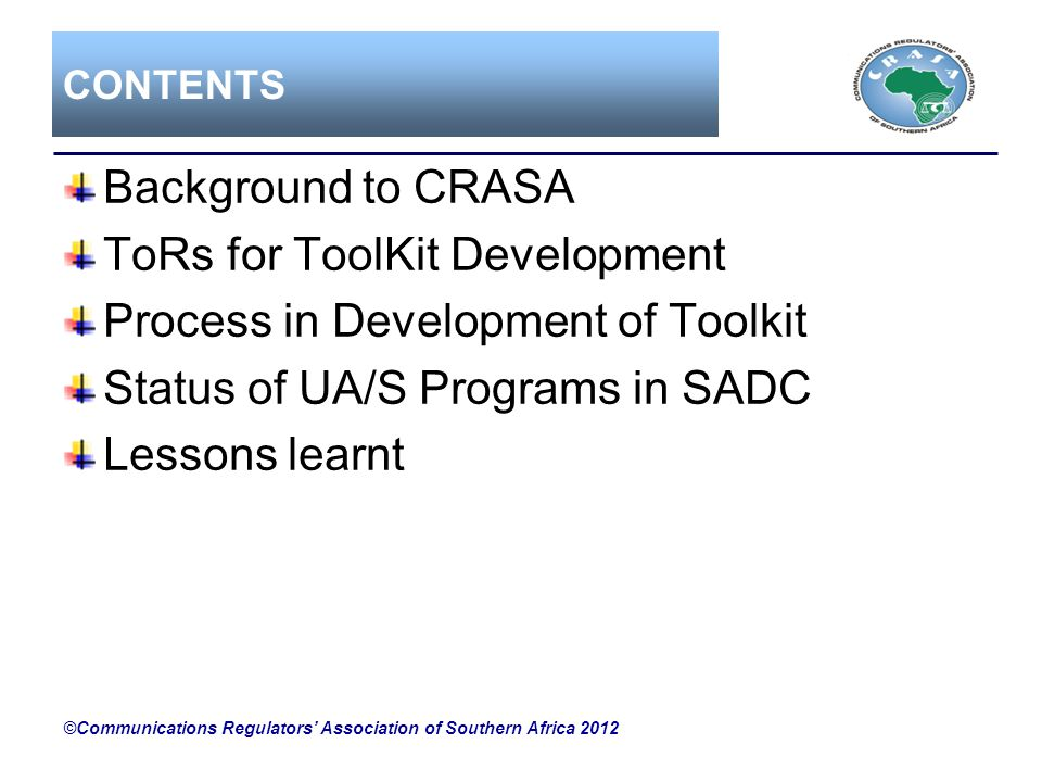 ToRs for ToolKit Development Process in Development of Toolkit