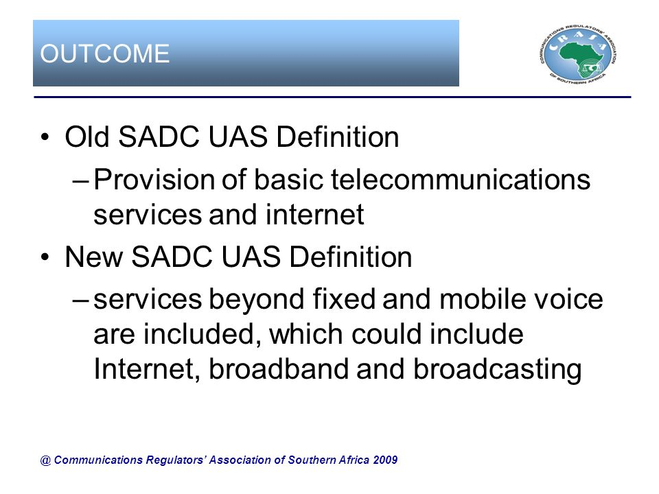 Old SADC UAS Definition