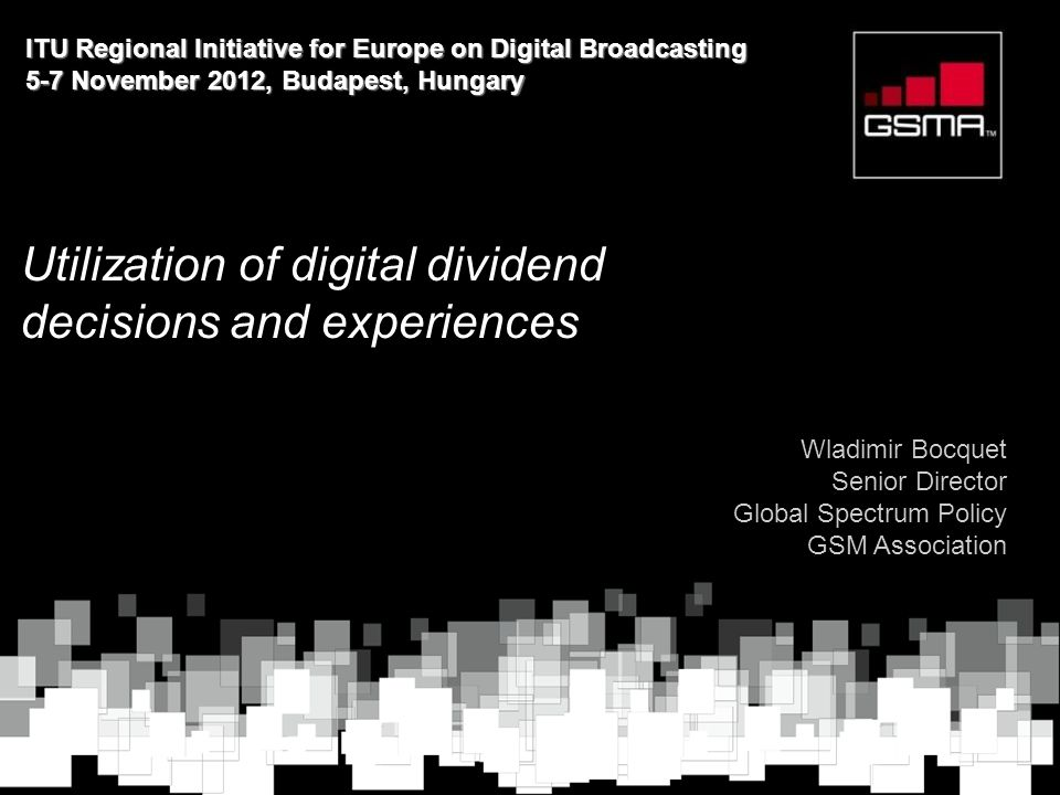 Utilization of digital dividend decisions and experiences
