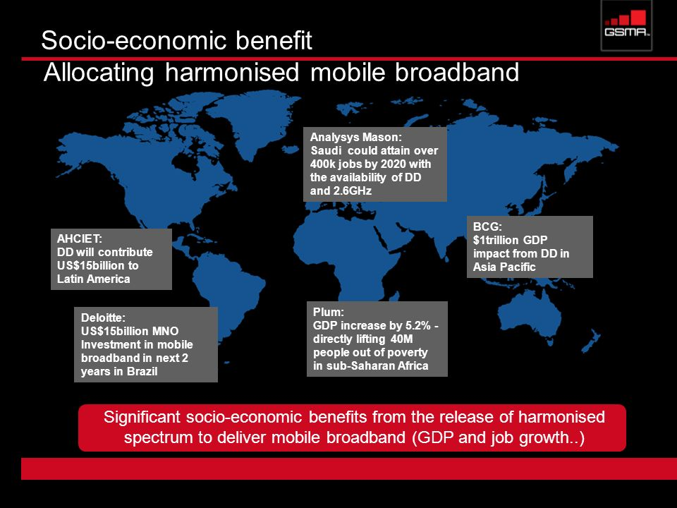 Socio-economic benefit Allocating harmonised mobile broadband