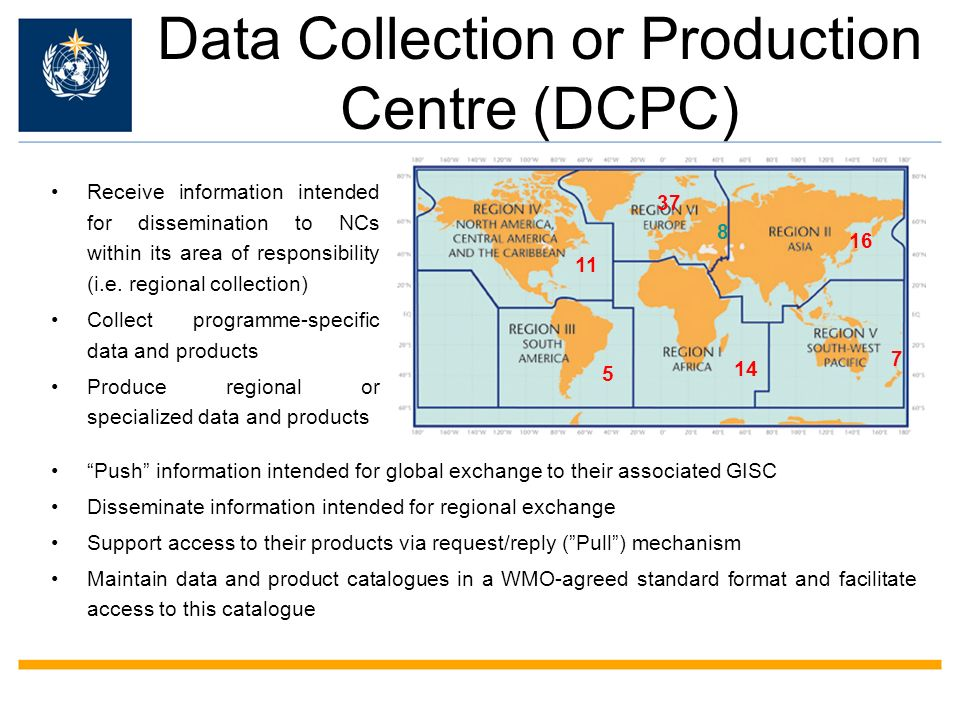 Data Collection or Production Centre (DCPC)