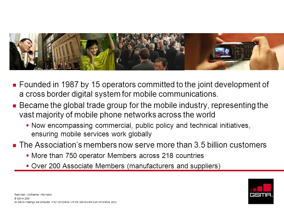 Brief History of the GSMA