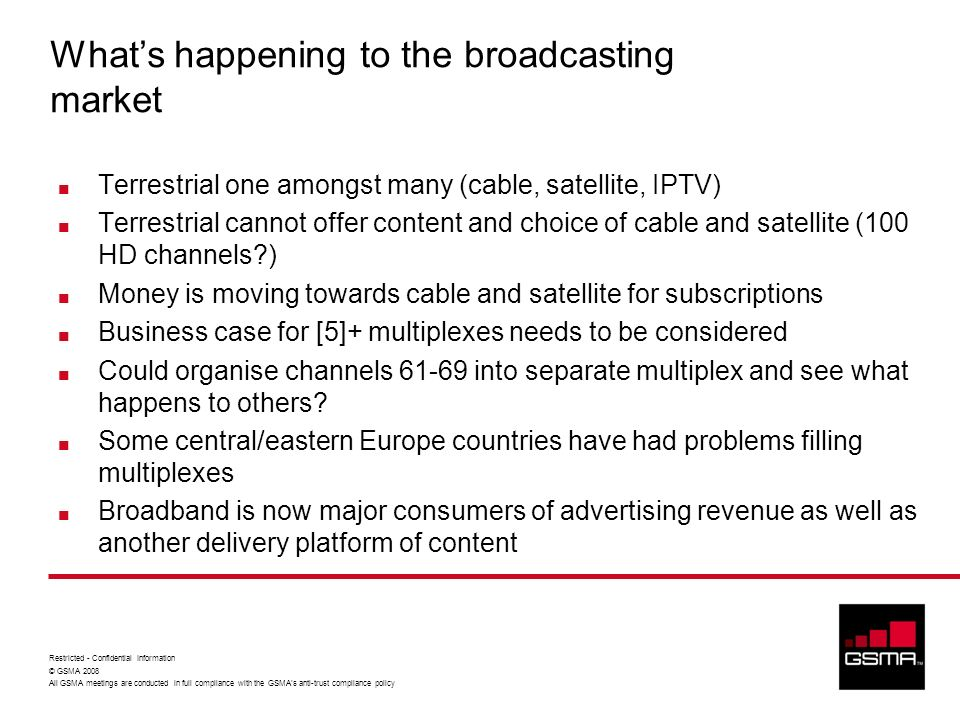 What's happening to the broadcasting market