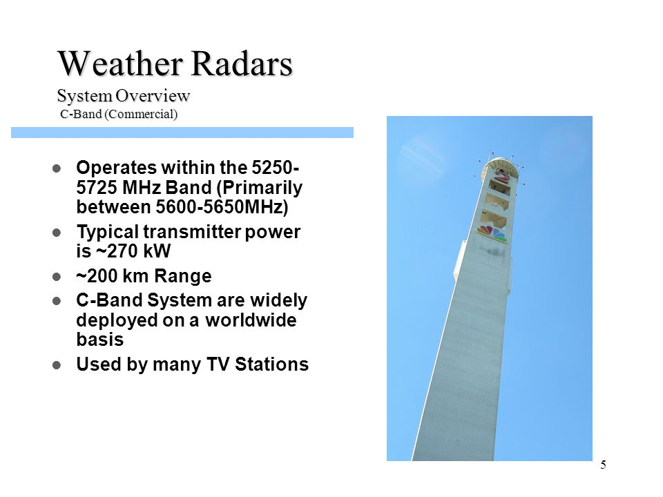 Weather Radars System Overview C-Band (Commercial)