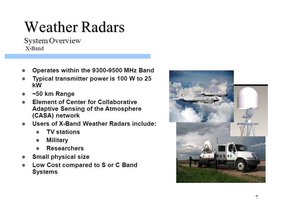 Weather Radars System Overview X-Band