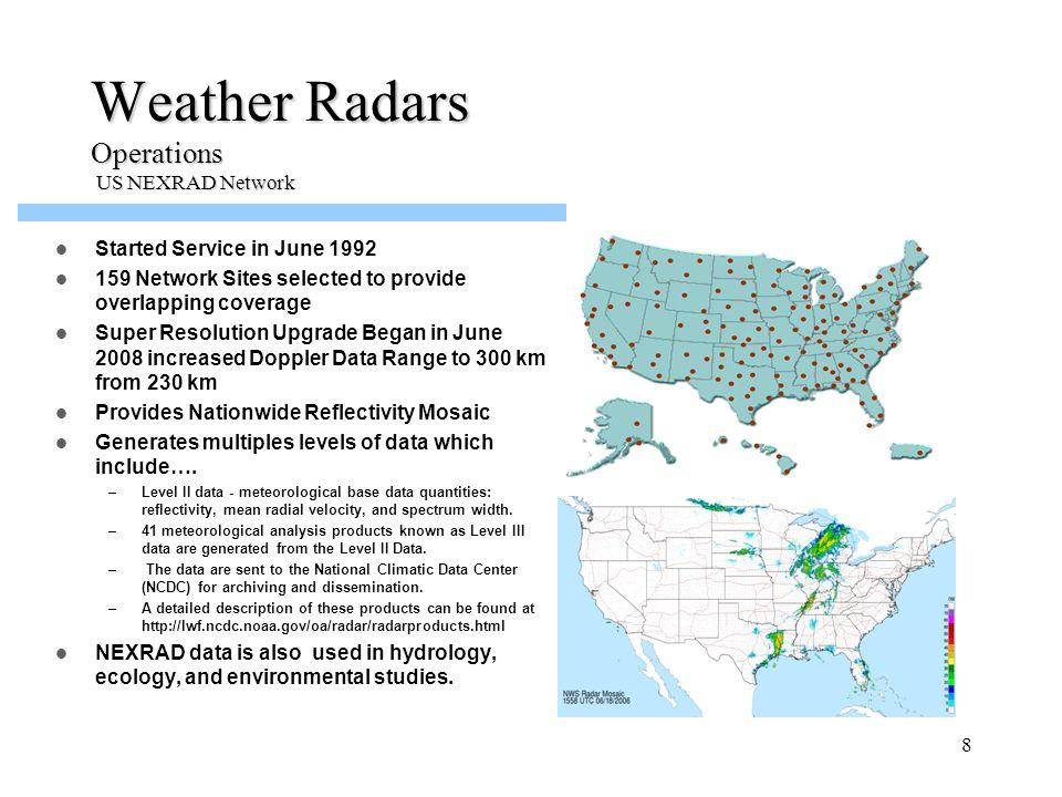 Weather Radars Operations US NEXRAD Network