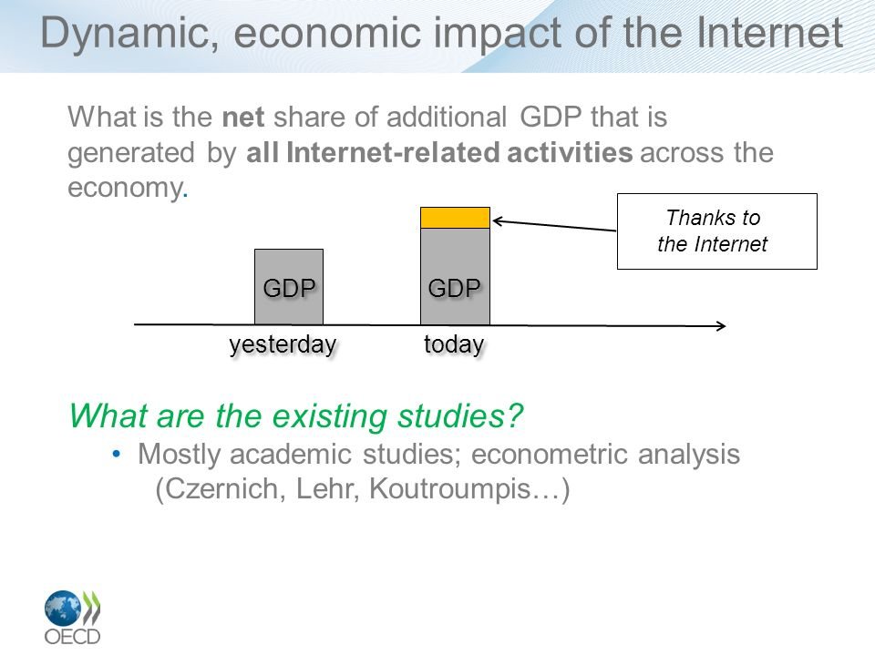 Dynamic, economic impact of the Internet