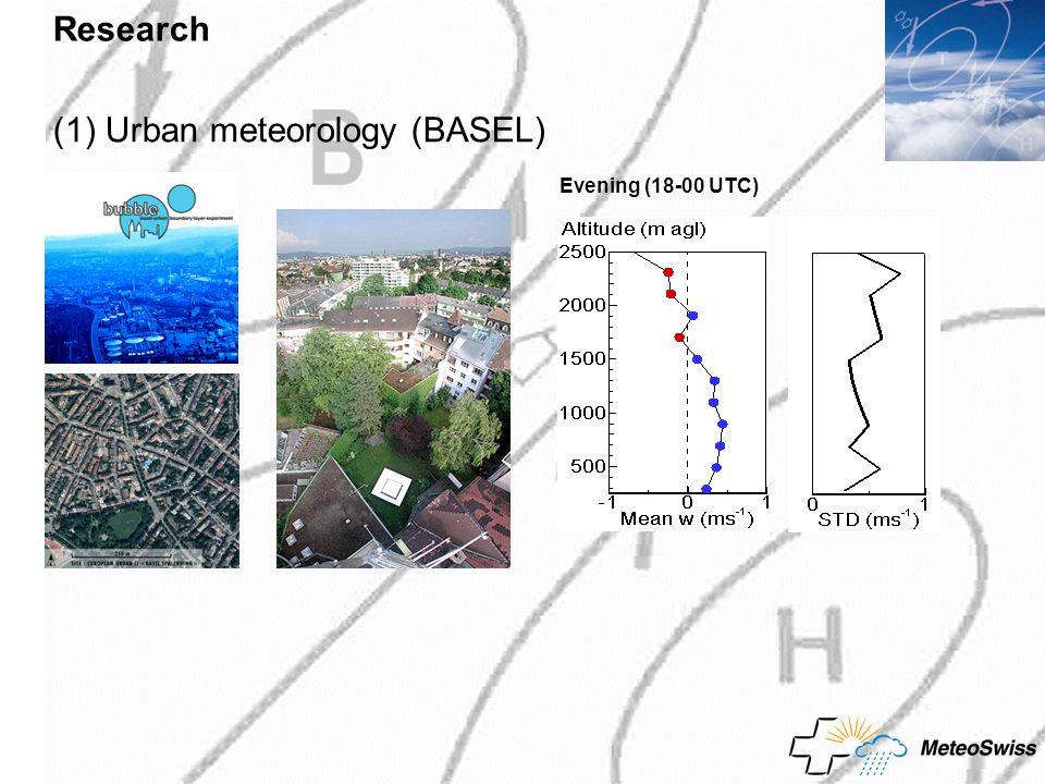(1) Urban meteorology (BASEL)