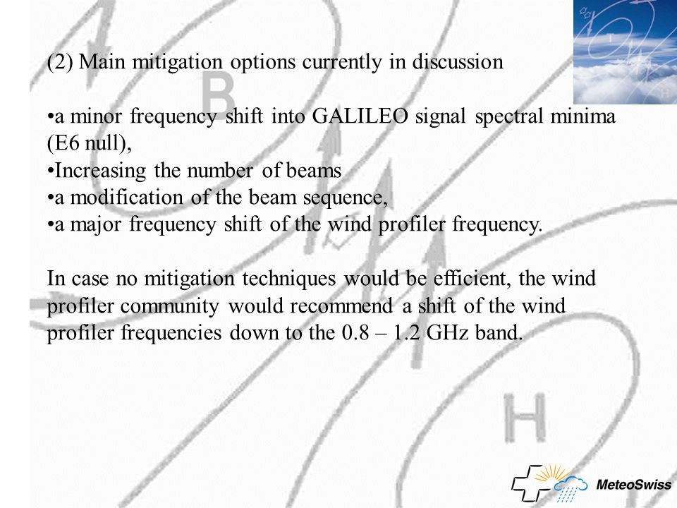 (2) Main mitigation options currently in discussion