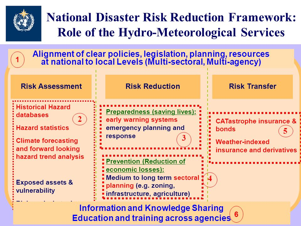 National Disaster Risk Reduction Framework: Role of the Hydro-Meteorological Services