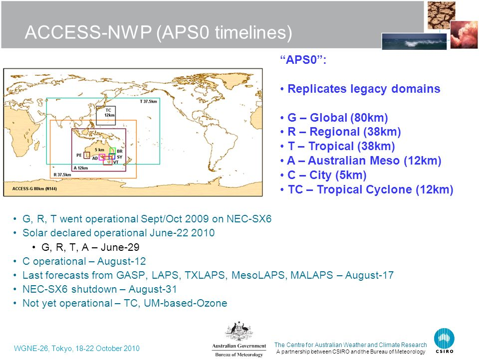 ACCESS-NWP (APS0 timelines)