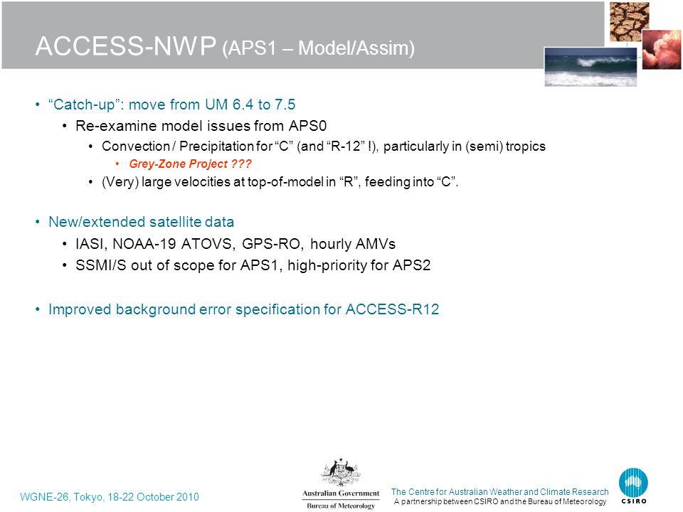 ACCESS-NWP (APS1 – Model/Assim)
