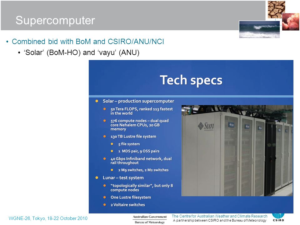 Supercomputer Combined bid with BoM and CSIRO/ANU/NCI