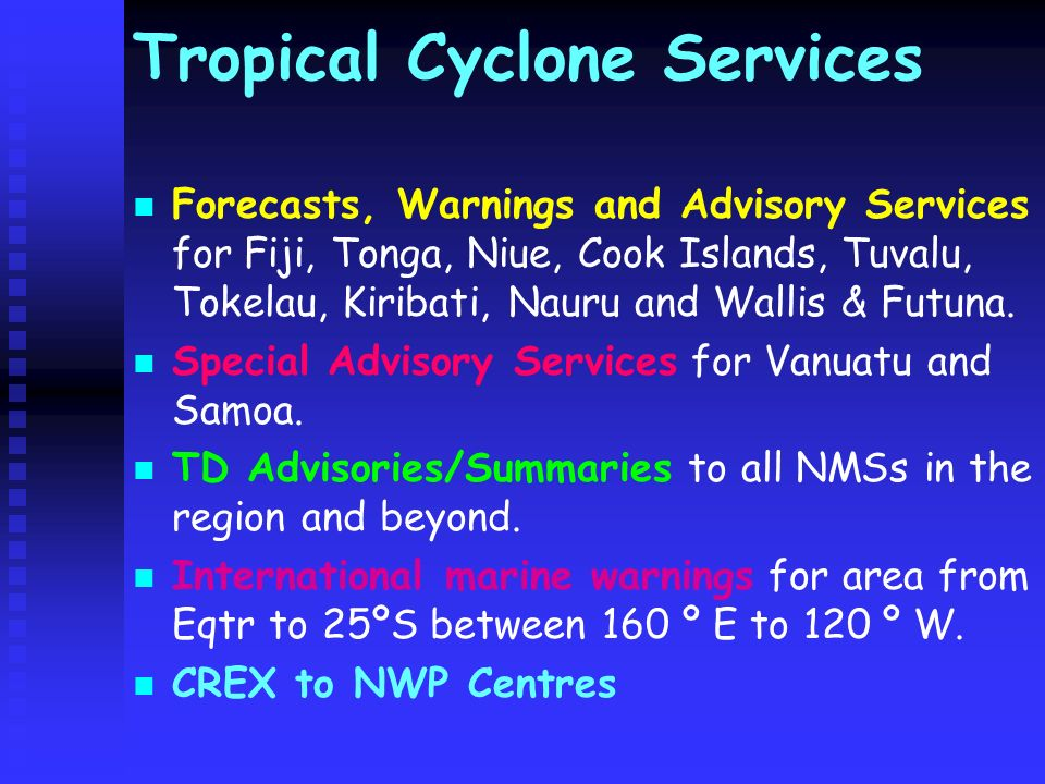 Tropical Cyclone Services
