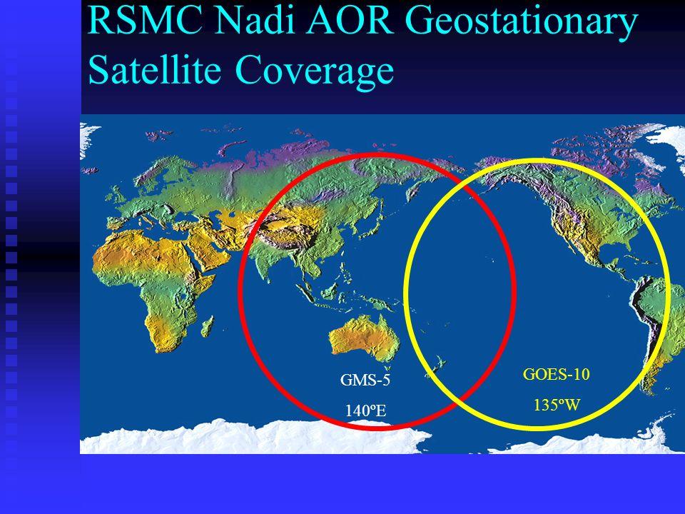 RSMC Nadi AOR Geostationary Satellite Coverage