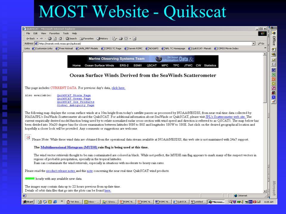 MOST Website - Quikscat