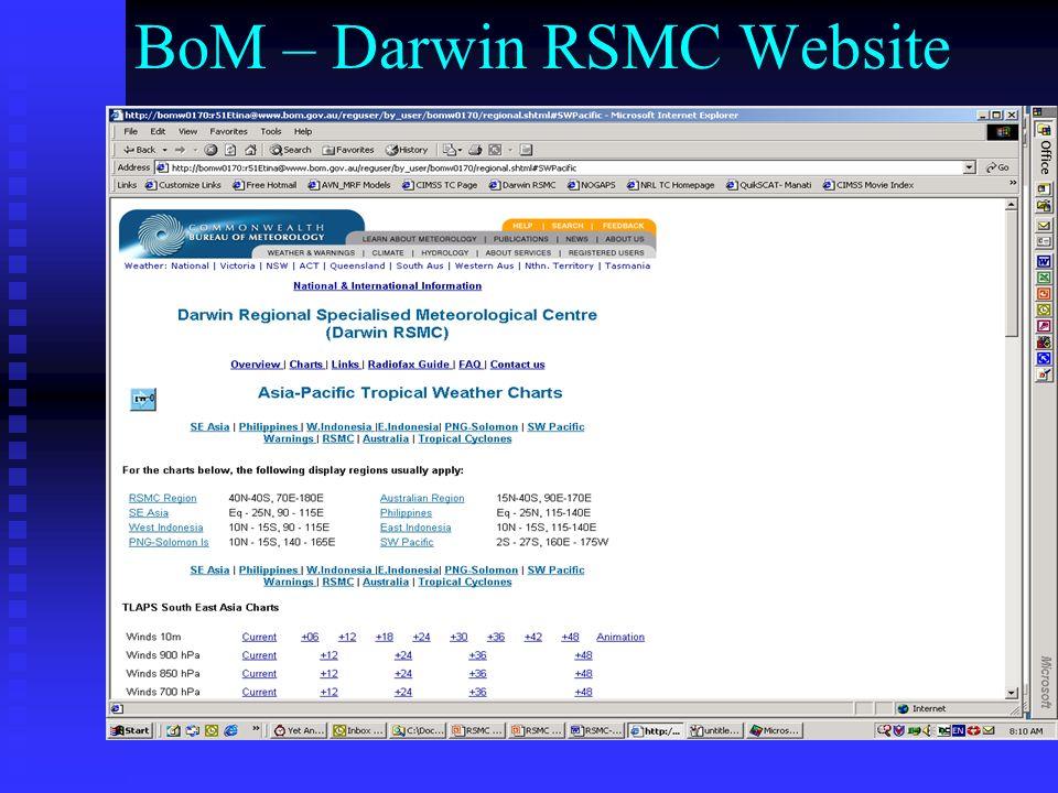 BoM – Darwin RSMC Website