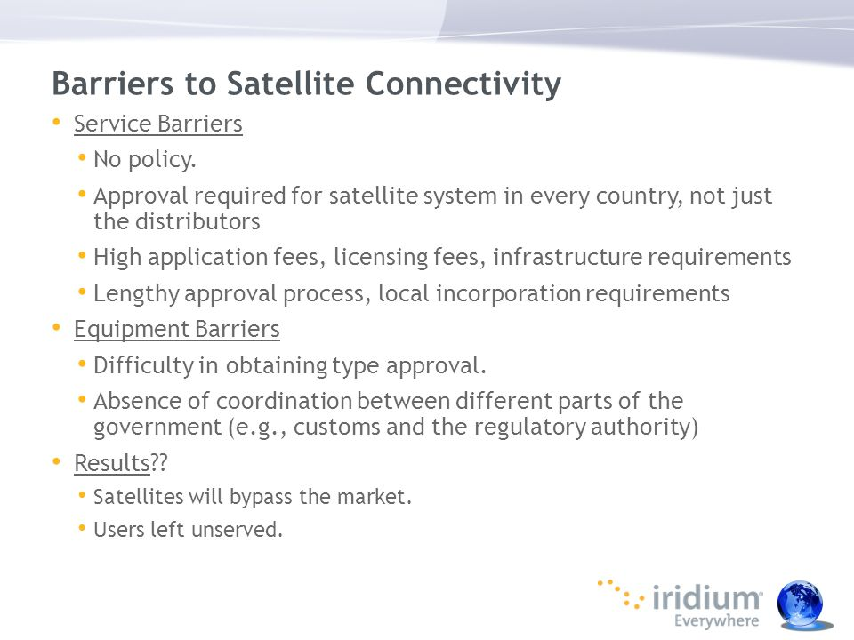 Barriers to Satellite Connectivity