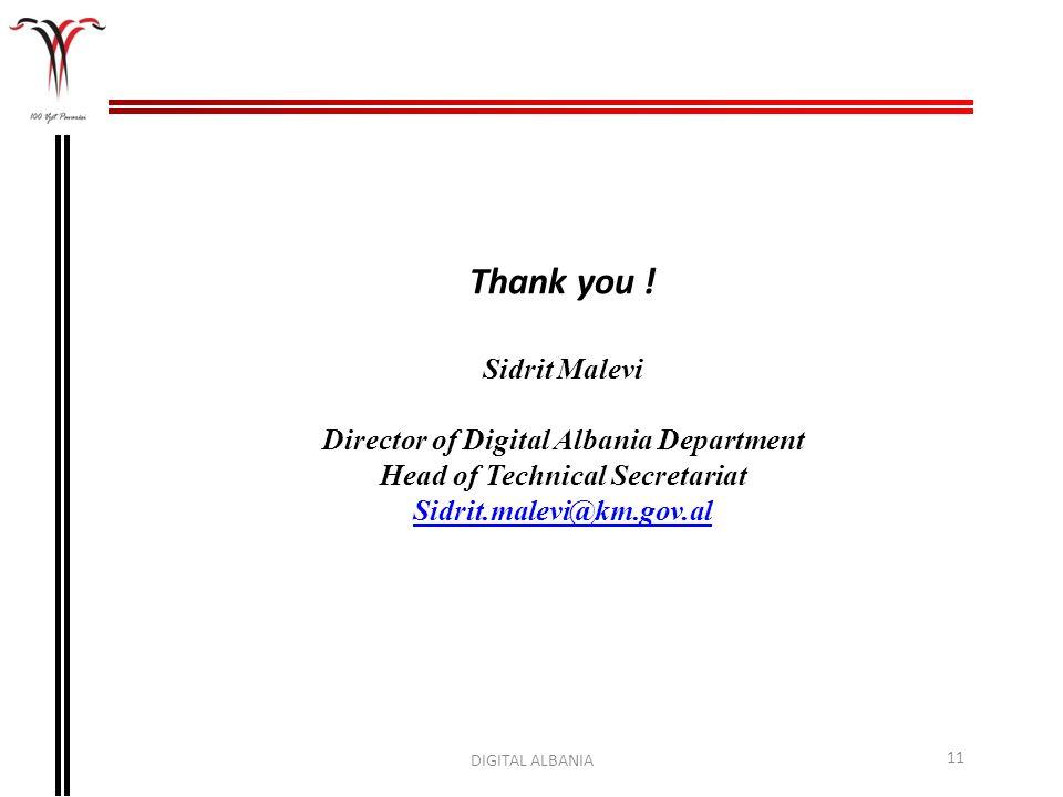 Director of Digital Albania Department Head of Technical Secretariat