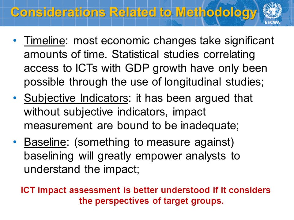 Considerations Related to Methodology
