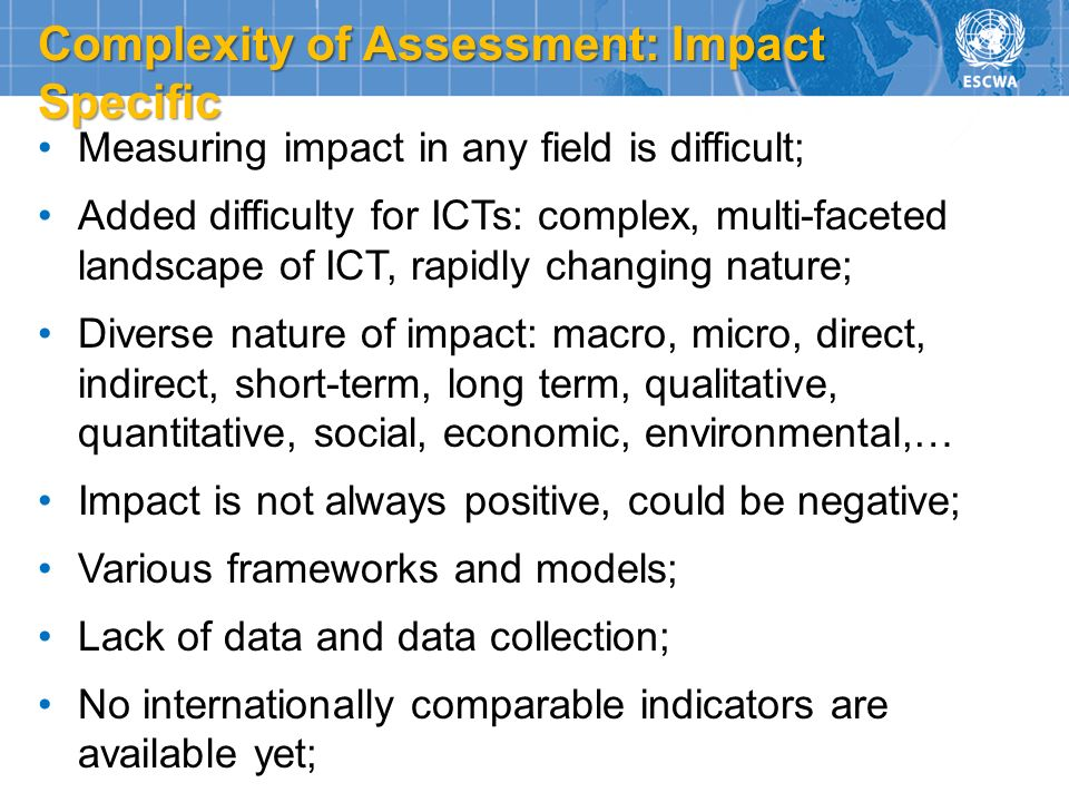 Complexity of Assessment: Impact Specific