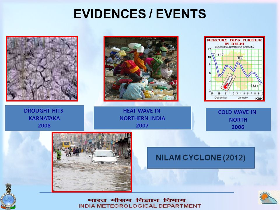 EVIDENCES / EVENTS NILAM CYCLONE (2012) DROUGHT HITS HEAT WAVE IN