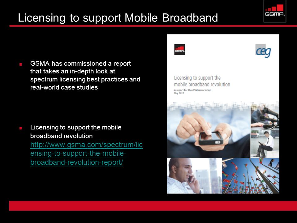 Licensing to support Mobile Broadband