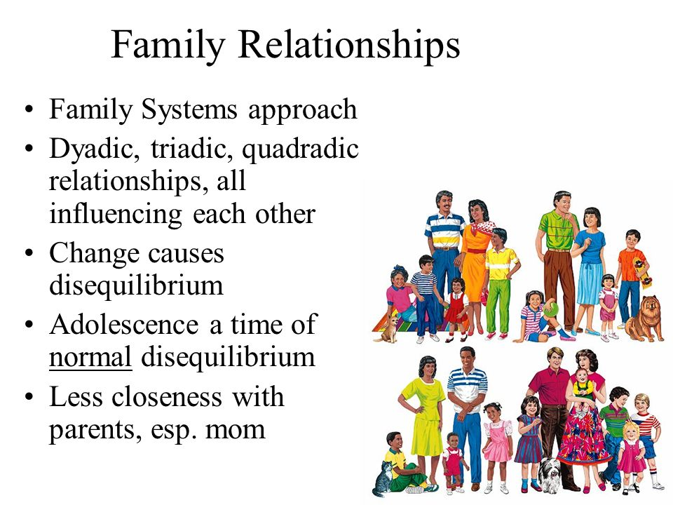 family system that influences children Teenagers, parents and family but things usually improve by late adolescence as children become more mature and family they're my own support system.