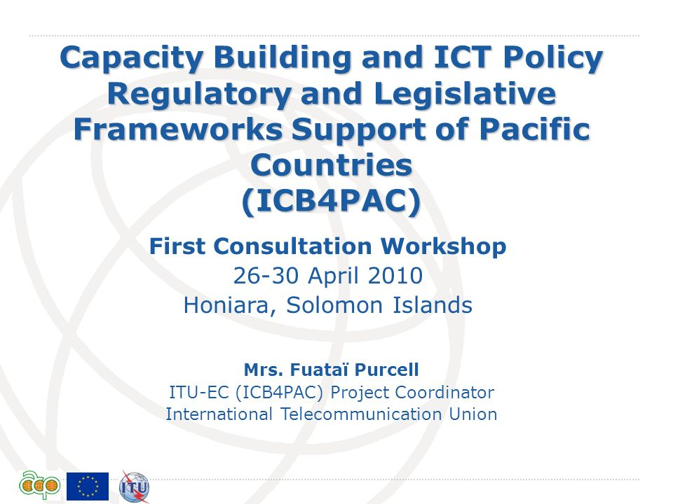 First Consultation Workshop