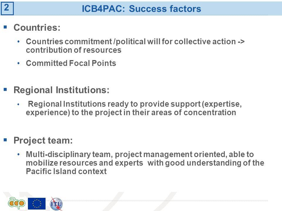 ICB4PAC: Success factors