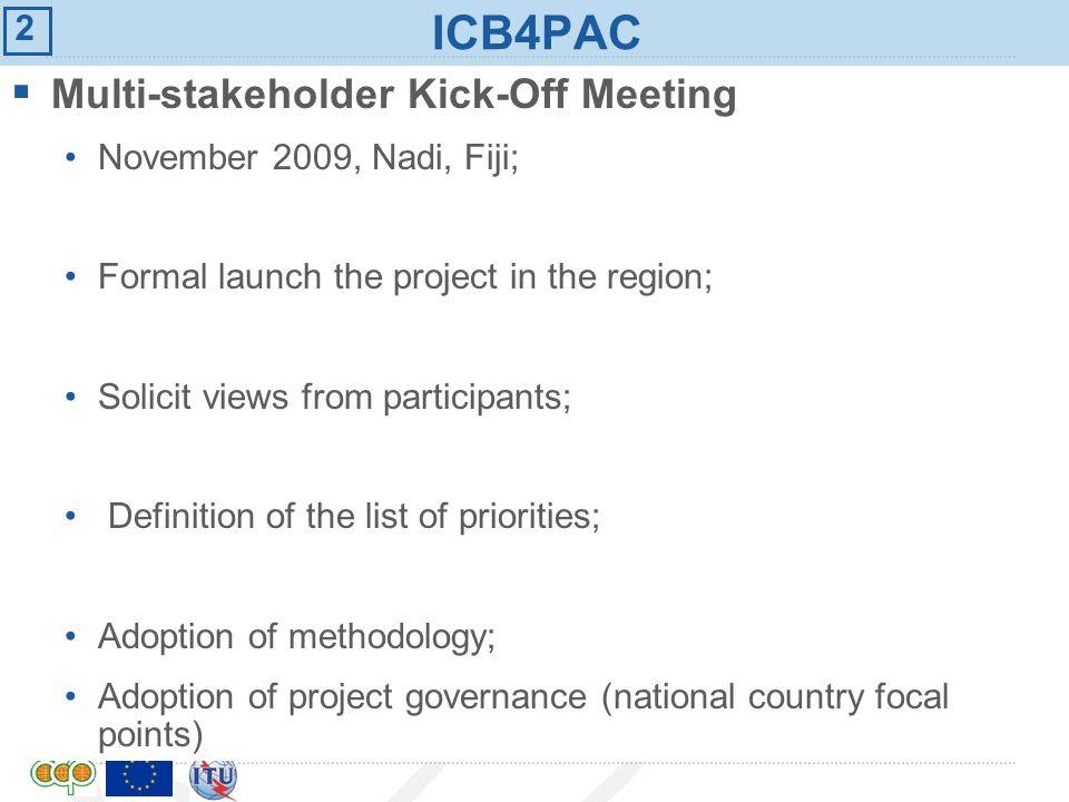 ICB4PAC Multi-stakeholder Kick-Off Meeting 2