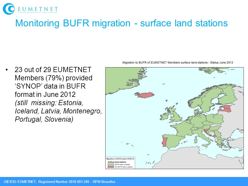 Monitoring BUFR migration - surface land stations