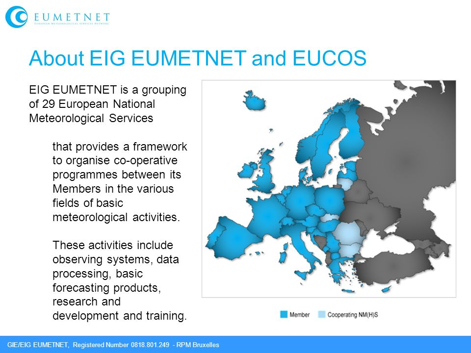 About EIG EUMETNET and EUCOS