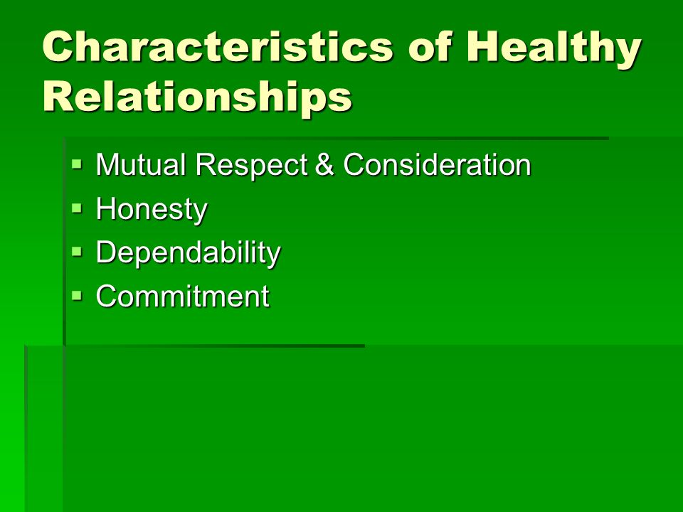 characteristics of a healthy relationship essay Relationships eight contrasts between unhealthy and healthy relationships new life ministries cbncom – a healthy heart can enter into.
