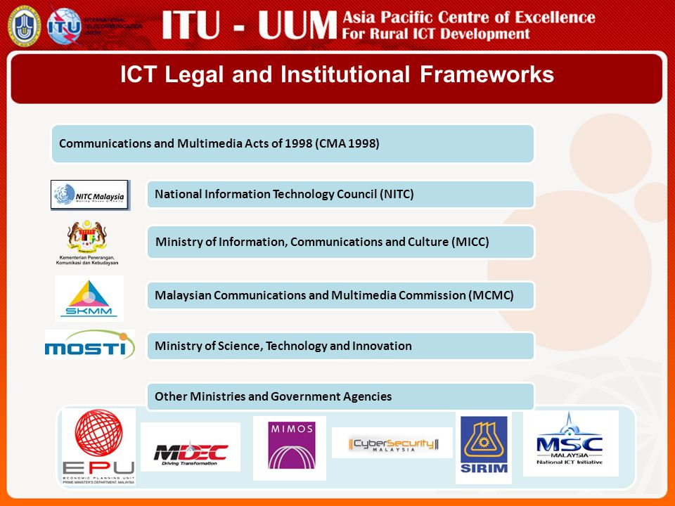 ICT Legal and Institutional Frameworks