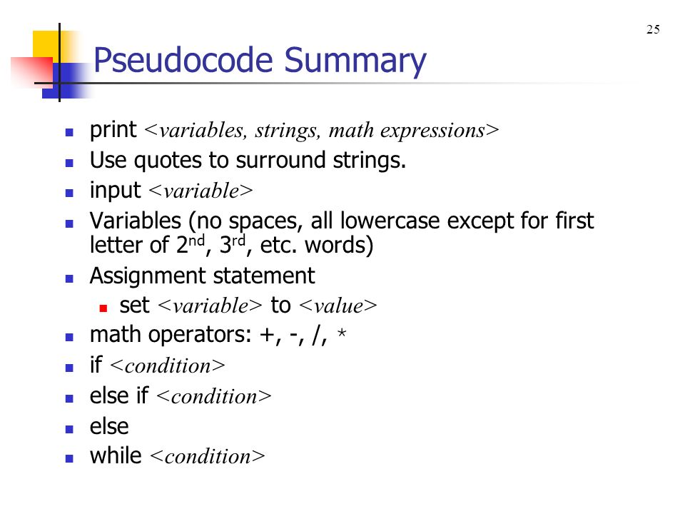 how to add input in pseudocode