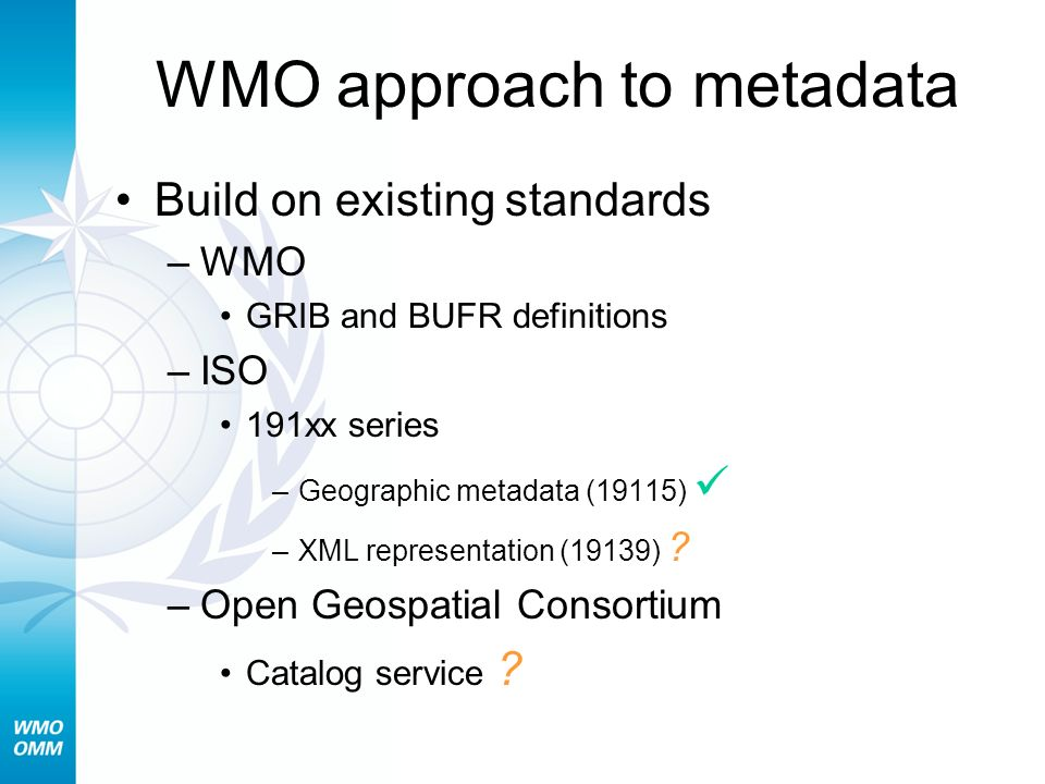 WMO approach to metadata