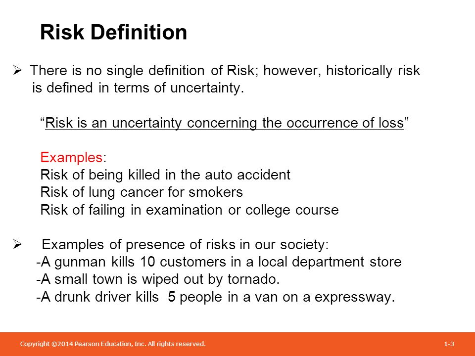 Definition of 'risk'
