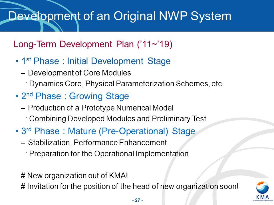 Development of an Original NWP System
