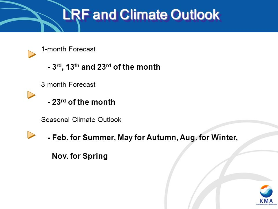 LRF and Climate Outlook