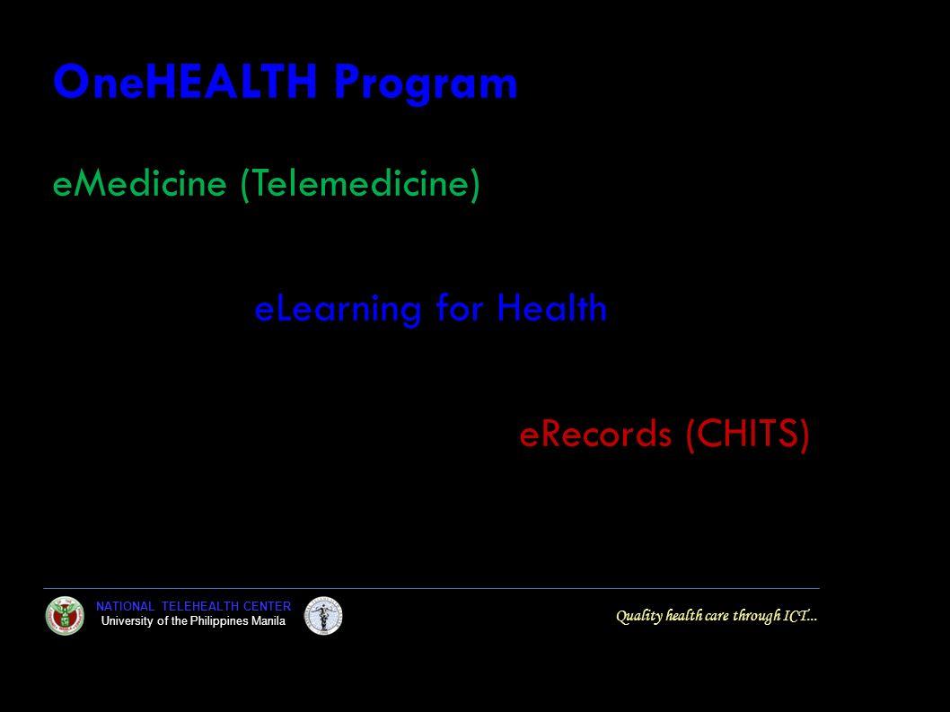 OneHEALTH Program eMedicine (Telemedicine) eLearning for Health