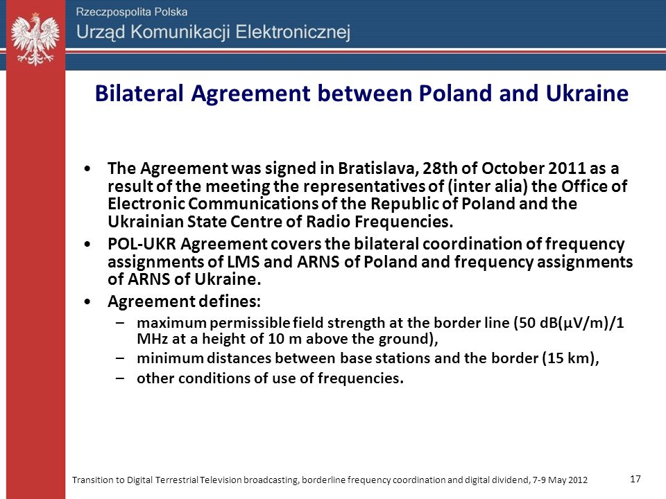 Bilateral Agreement between Poland and Ukraine
