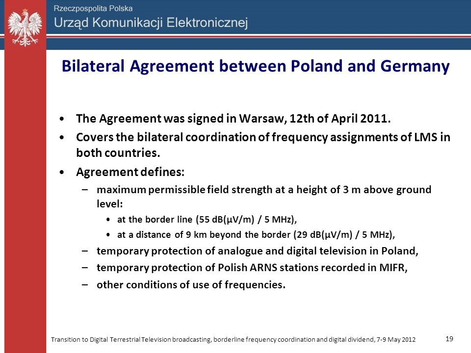 Bilateral Agreement between Poland and Germany