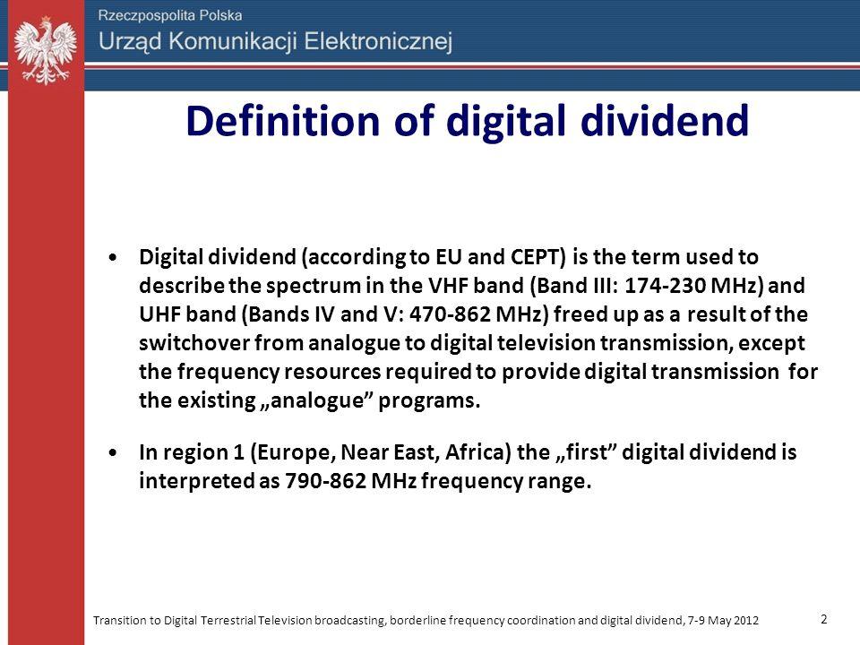 Definition of digital dividend
