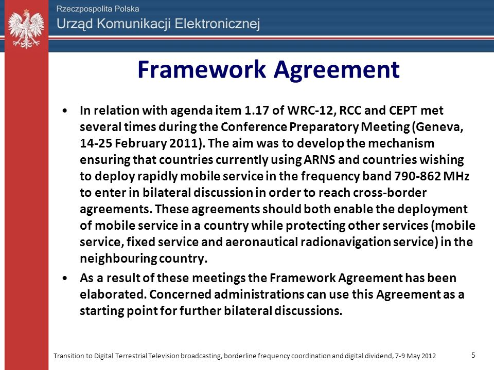 Framework Agreement